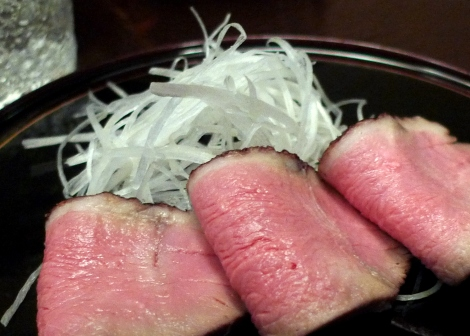 smoked duck in sake - super delicious!