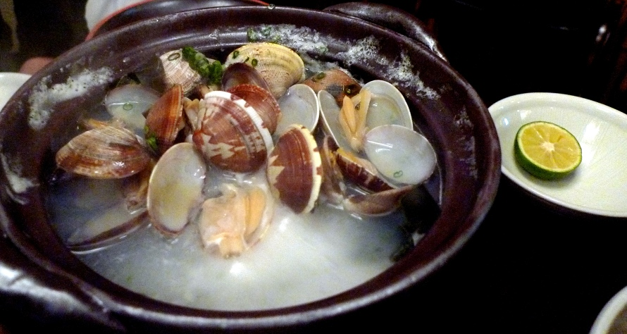 mussels steamed in sake broth