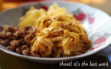 shan noodle @ 600 kyat