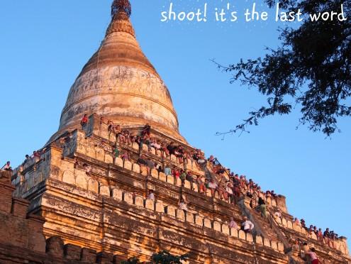sunset pagoda - shwe san daw