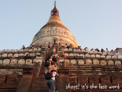 climbing up the pagoda