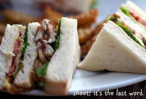 best club sandwich @ bagan beach bar