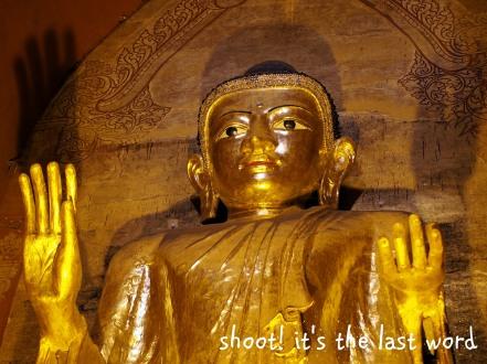 golden buddha closeup
