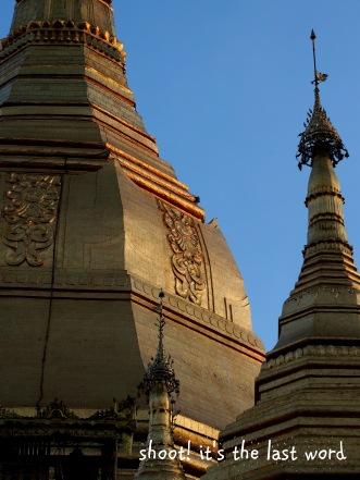 evening light - sule pagoda