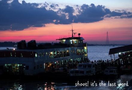 sunset @ pansodan jetty