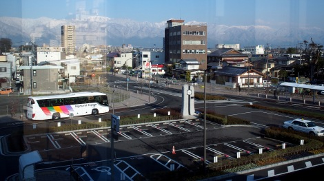 view from matsumoto train station