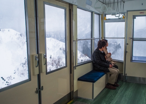 on the ropeway to daikanbo