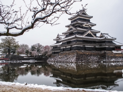 matsumoto castle - postcard view