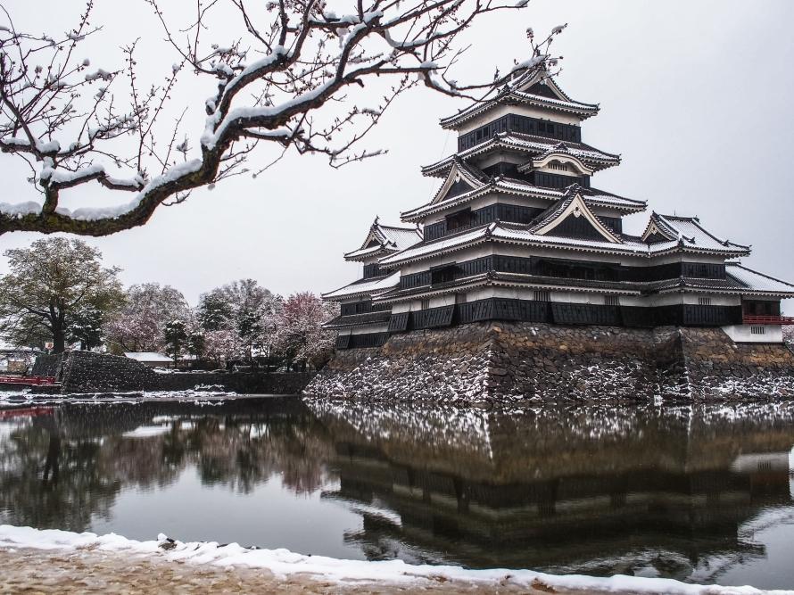 matsumoto castle - postcard view