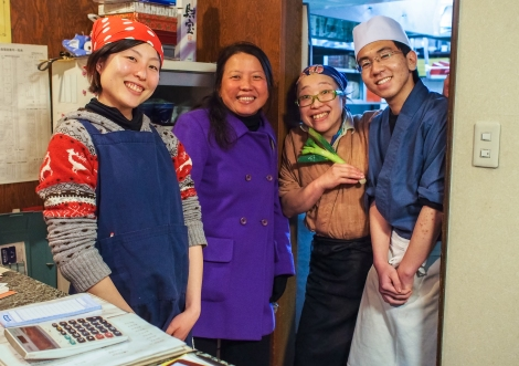lovely soba shop staff