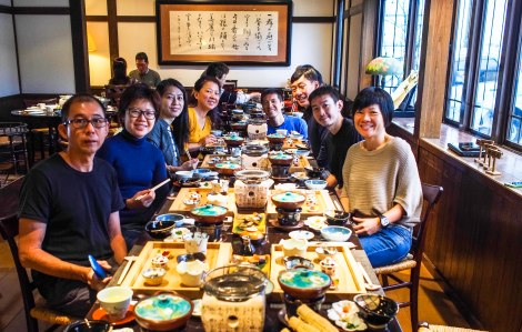 reunion! breakfast at taenoyu