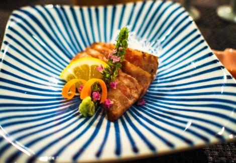 beef on a beautiful bespoke plate