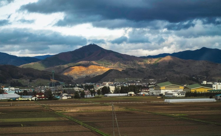 gorgeous view from the shinkansen on way home