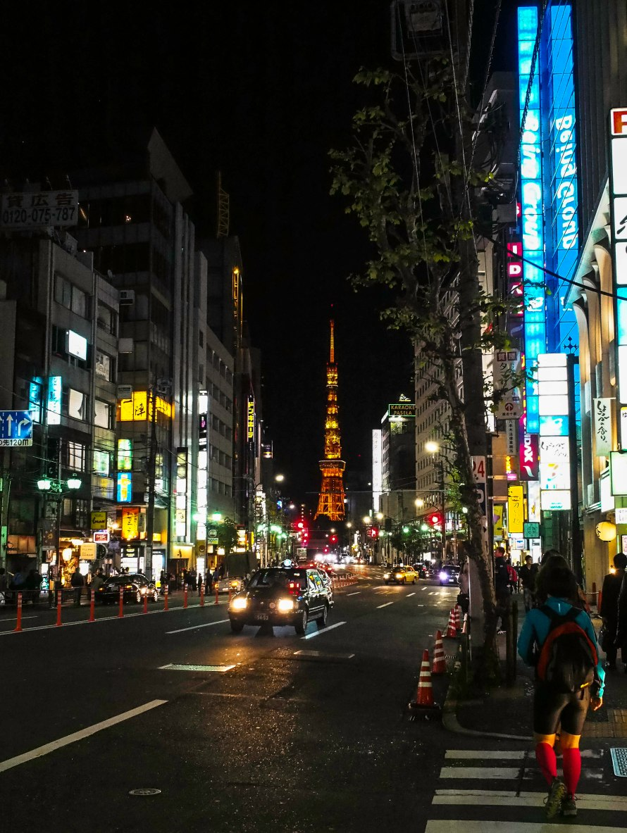 tokyo tower from the sleazy side of roppongi