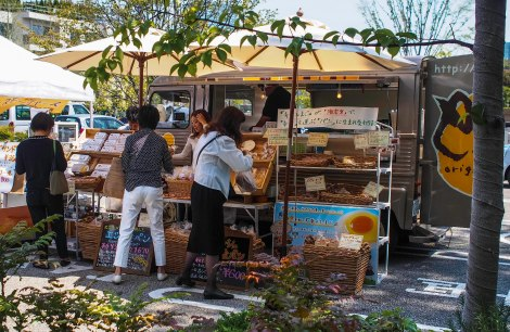 sunday market outside t-site