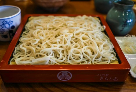the soba is white