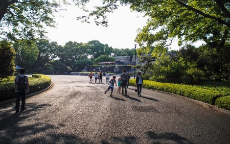 park connected to imperial palace