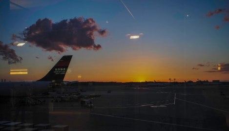 sunset from narita