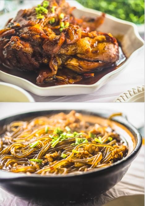 pork knuckle and shanghai noodles