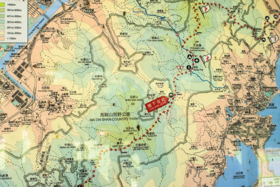 map @ one of the resting stations