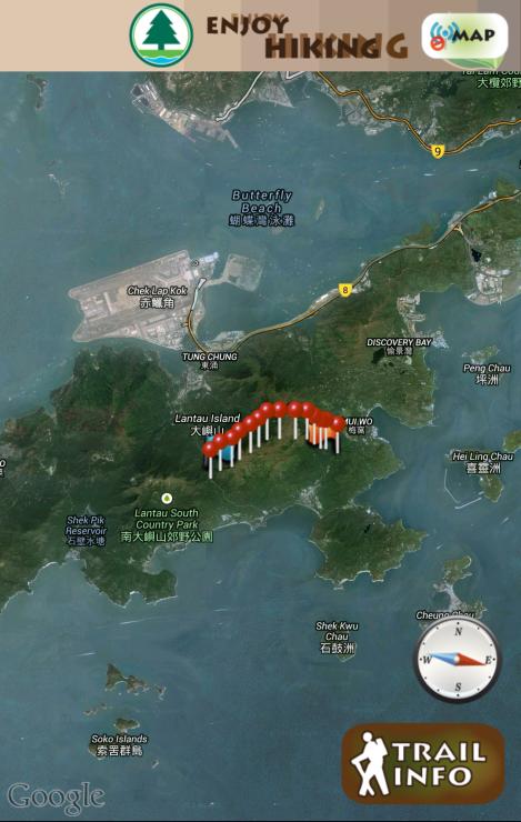 lantau sunset peak trail, cp 5 to cp 18