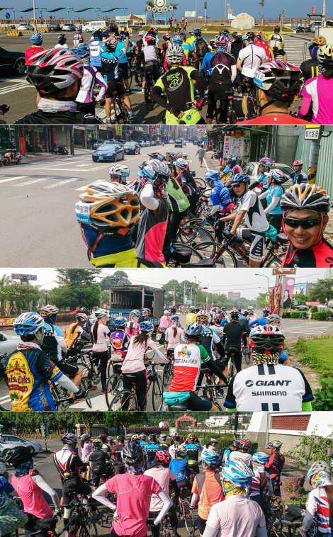 here's how cycling with 42 other people looked like