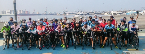 group photo before set off from kaohsiung