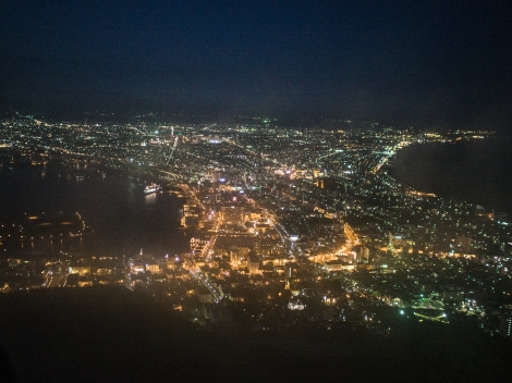nightfall, mt hakodate