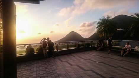 sunset reservoir view