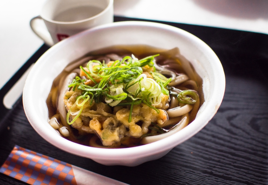 a bowl of udon