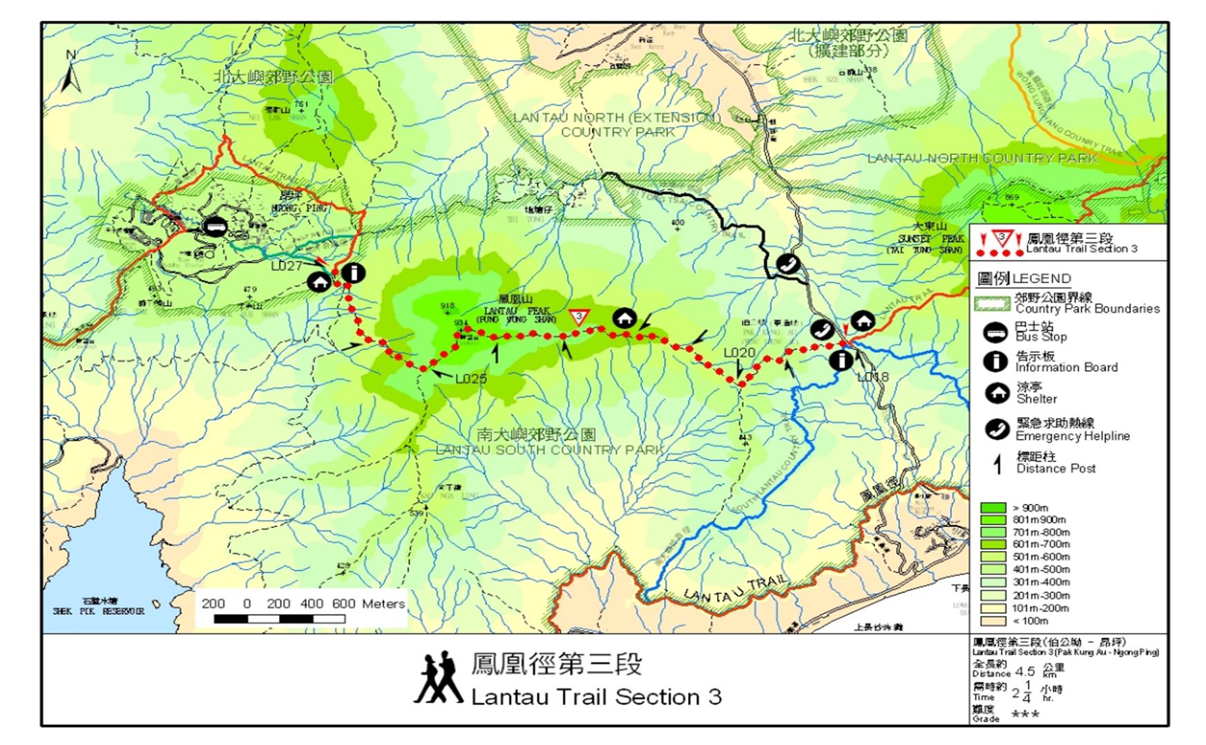 lantau peak map