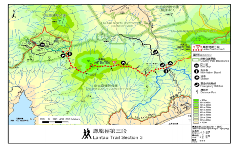 lantau peak map