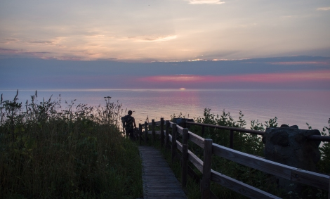 sunset from oronko