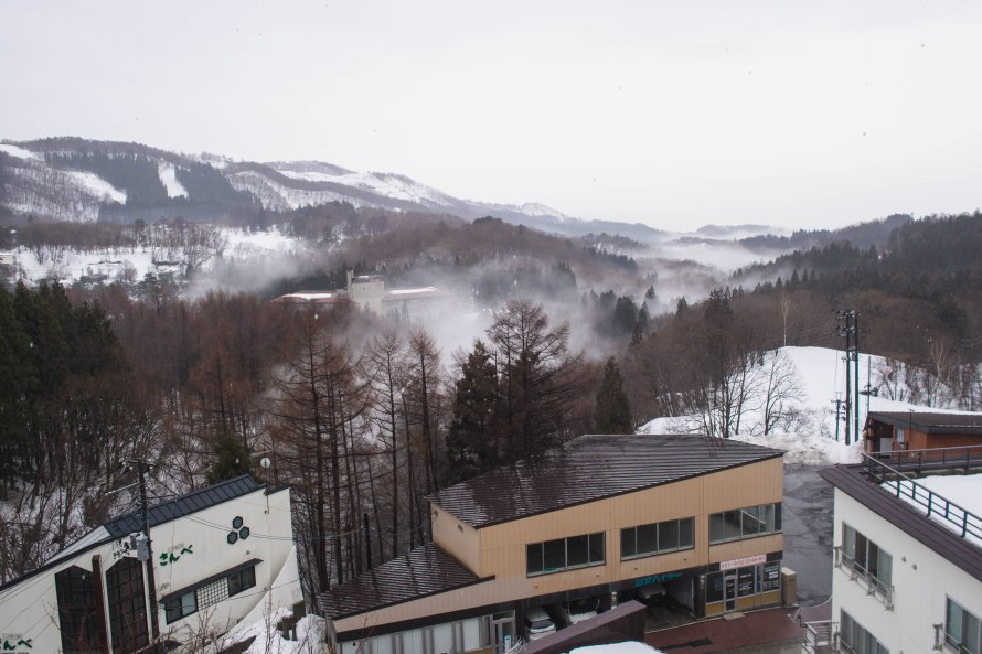 seen from the room: mist rising