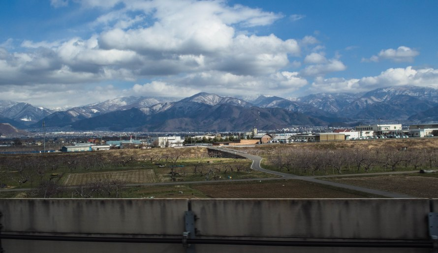 from the shinkansen - on way to nozawa