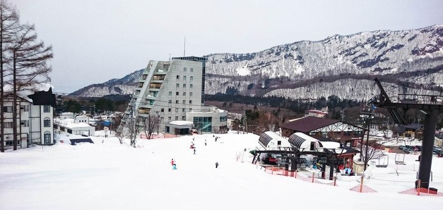ski lesson in progress