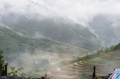 the scene from our hotel - the only terrace we saw in sapa