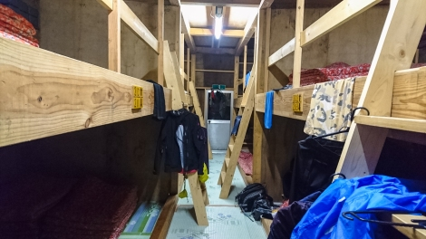 inside - bunks