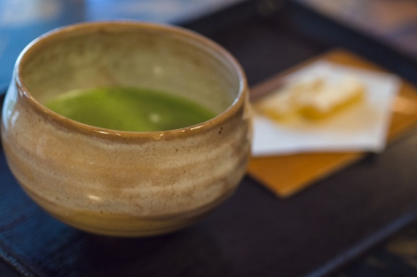 green tea -close up