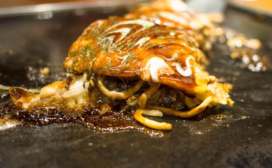 okonomiyaki - with noodles