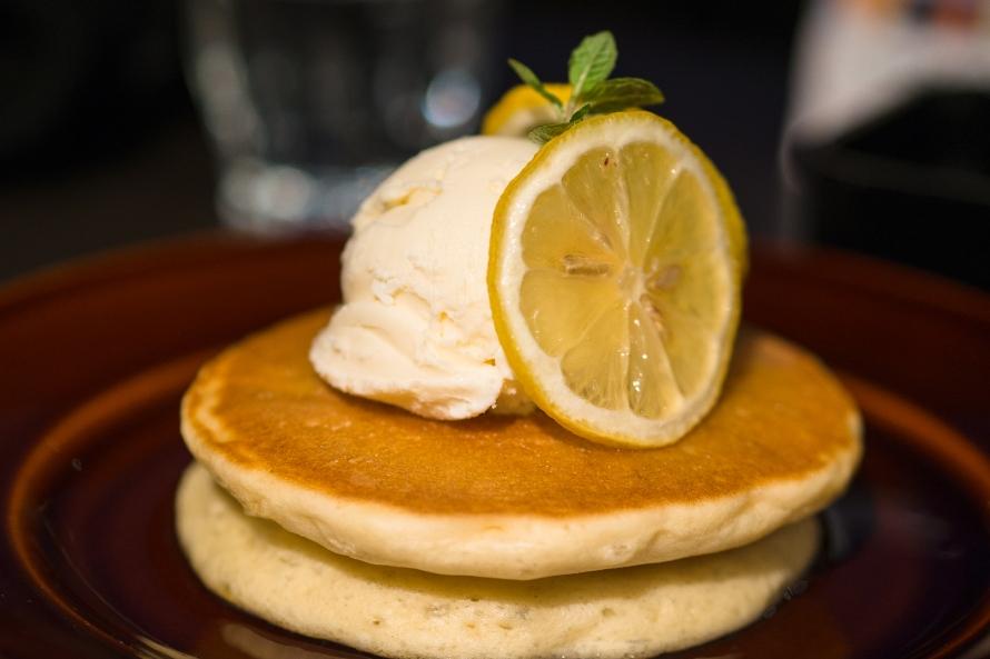 yummy pancake on a mountain