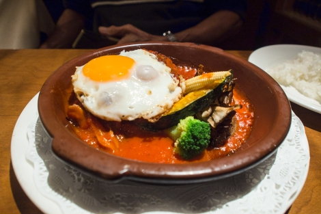 hamburg steak in tomato sauce