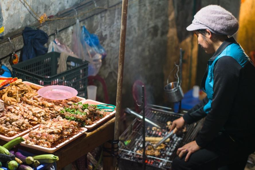 night market vendor